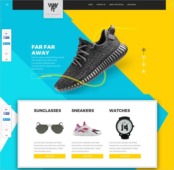 free fashion style wordpress template