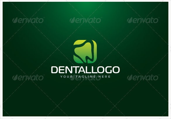 dental green logo template
