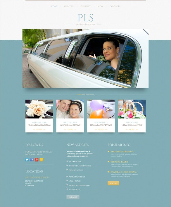 wedding services responsive wordpress theme