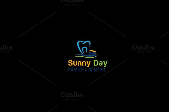 sunny dental logo template
