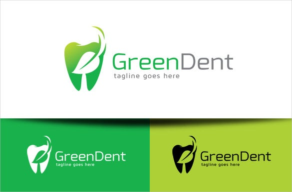 green dental logo template