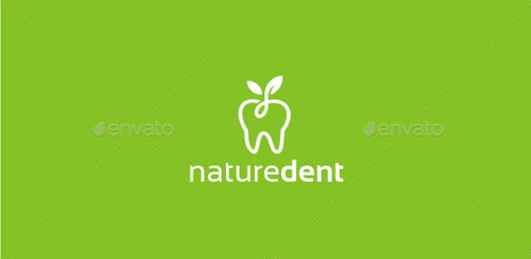 nature dental logo template