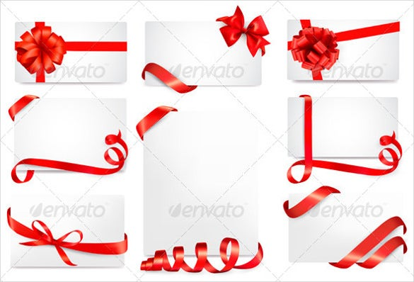 blank coupon design template with ribbons