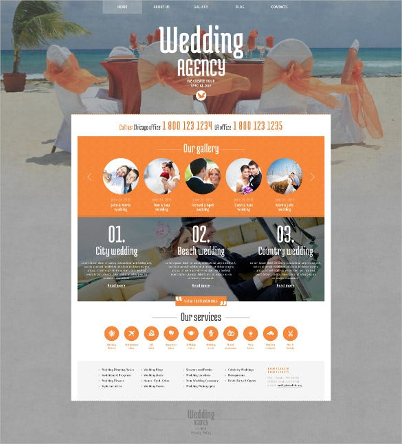 wedding agency responsive wordpress theme