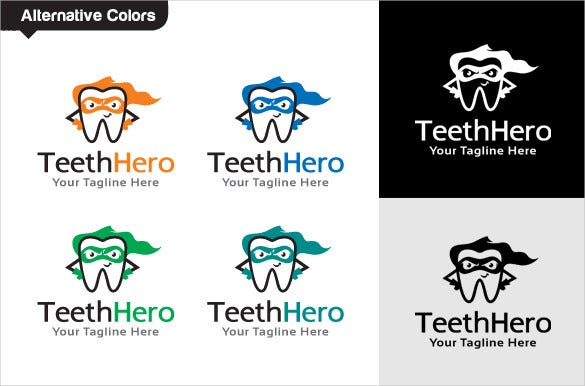 hero dental logo template