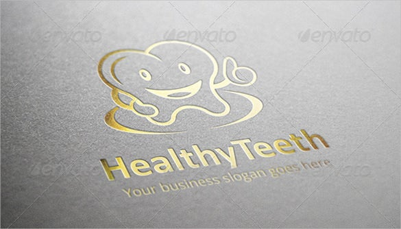 healthy dental logo template
