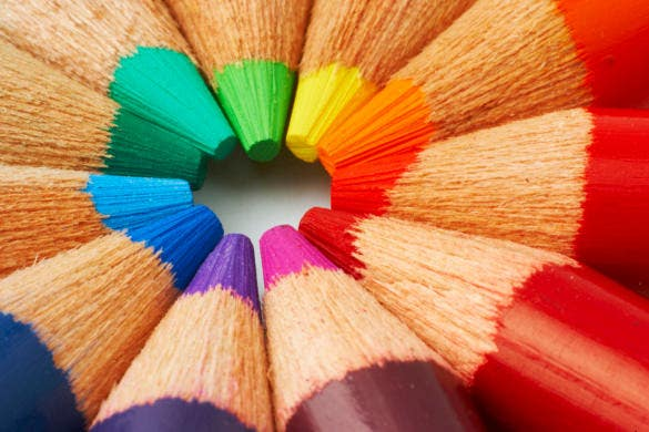 color pencils still life photograph download