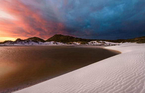 witsands lagoon still life photograph download