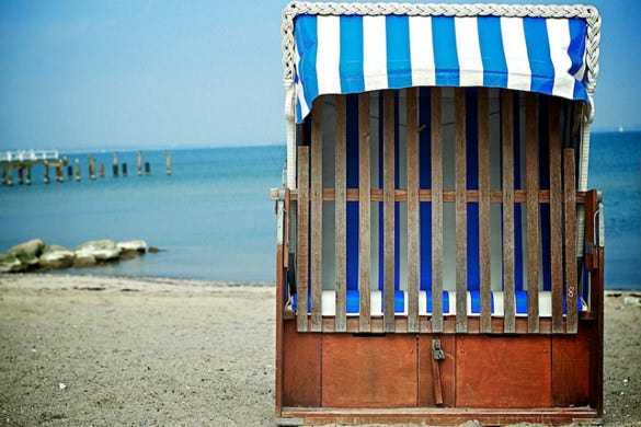beach chair at the baltic sea photography