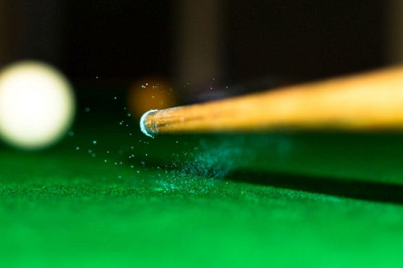 download chalk dust after striking the cue ball