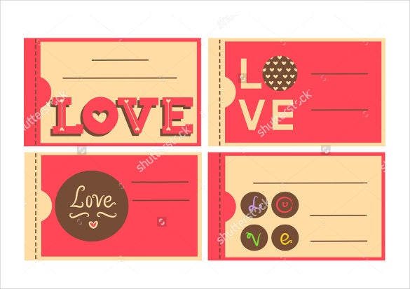 Designed With The Theme Of Love This Sample Template Can Be Used By Any  Business To Create Coupons To Be Bought By A Person For The One They Love.  Blank Coupons Templates