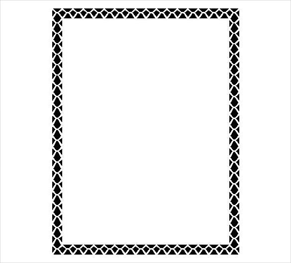 holiday black border template