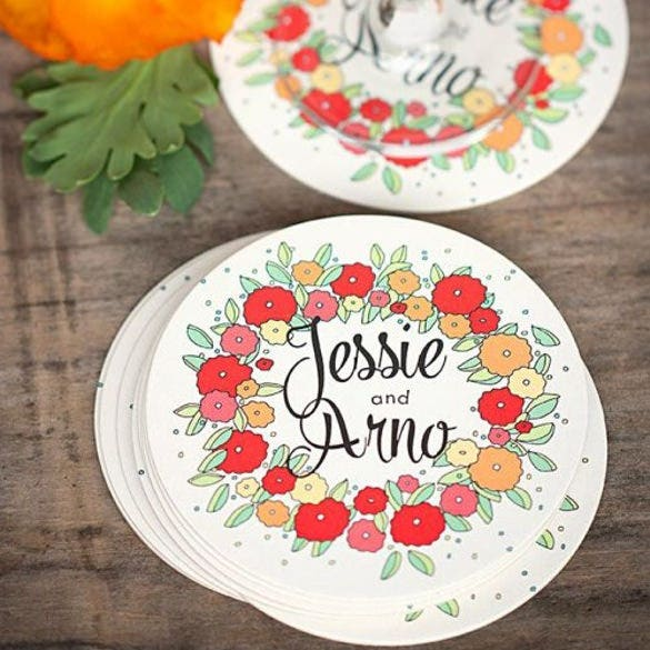 personalized wedding coasters premium design download