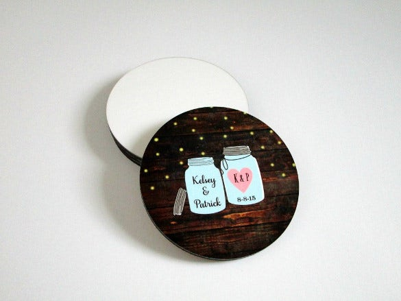 21+ Beautiful Examples of Wedding Coaster Designs & Ideas | Free ...