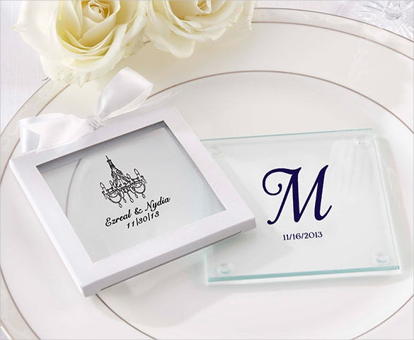 personalized wedding glass coaster design download