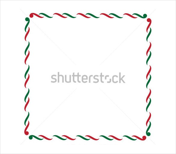 green red holiday border template