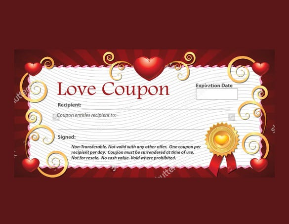 colorful love coupon template download1