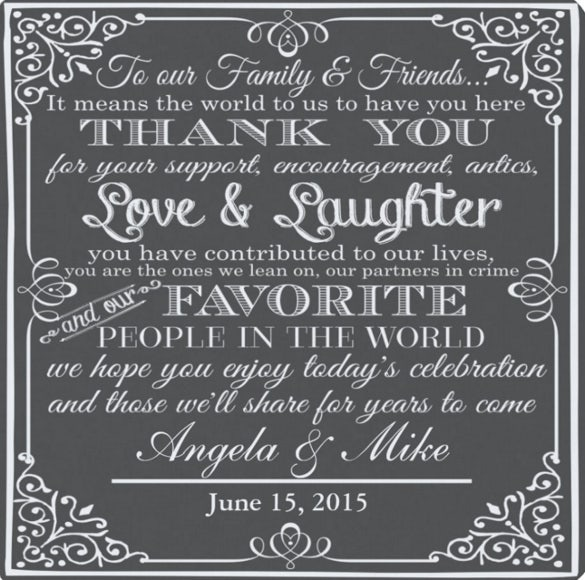 personalised favor wedding coaster thank you design