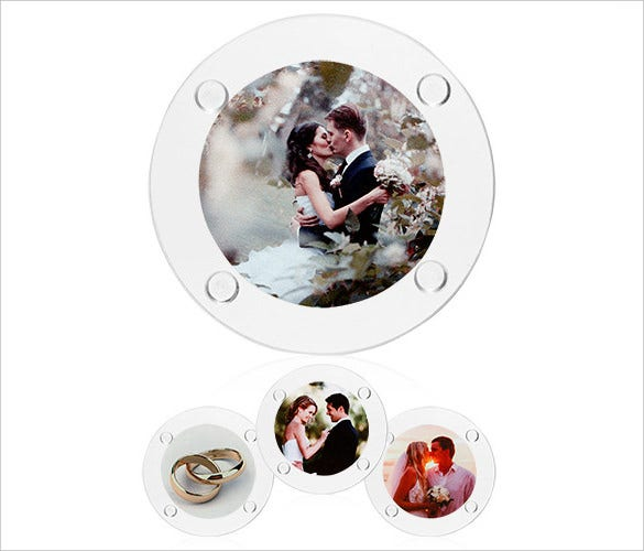 round personalized glass coasters custom printed photos