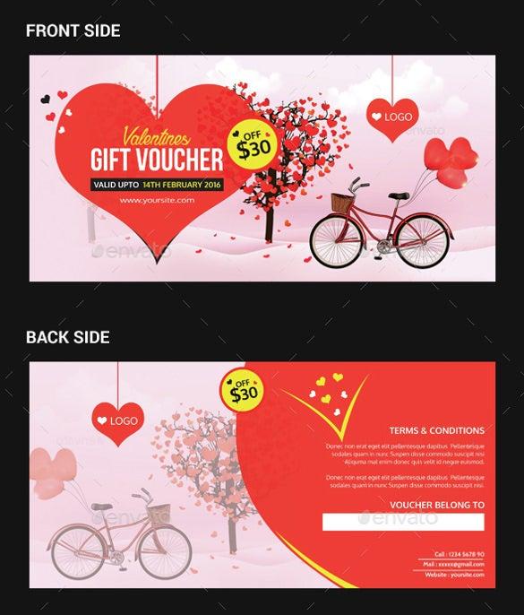 beautiful love coupon template download