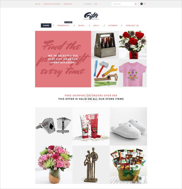 gifts online store shopify ecommerce theme