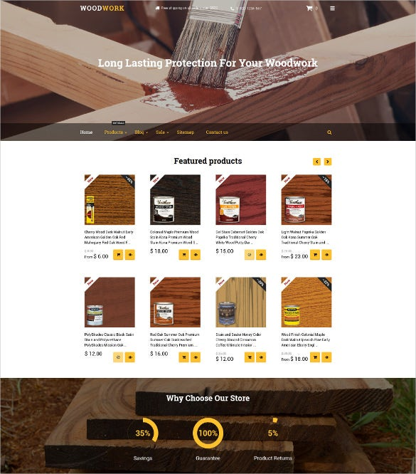 wood finishes shopify ecommerce theme