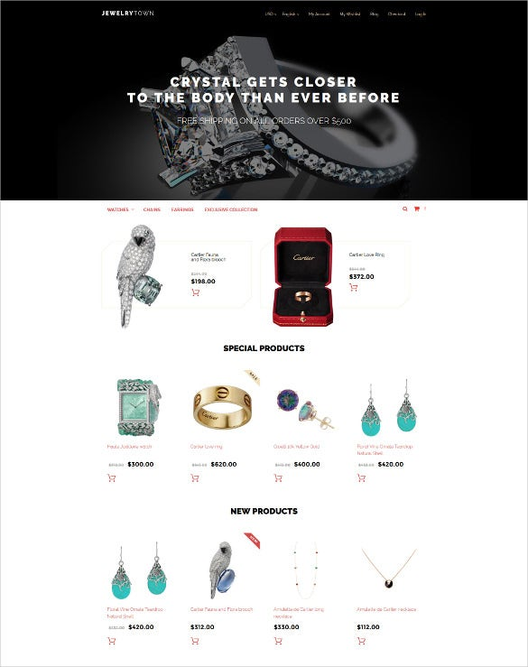 jewelrytown magento ecommerce theme