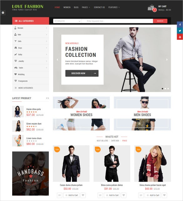 love fashion responsive multipurpose opencart ecommerce theme