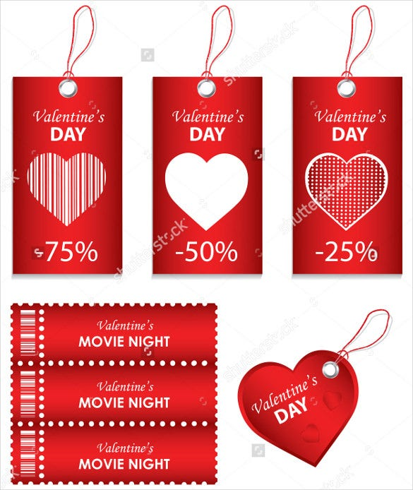 happy valentines day love coupon template