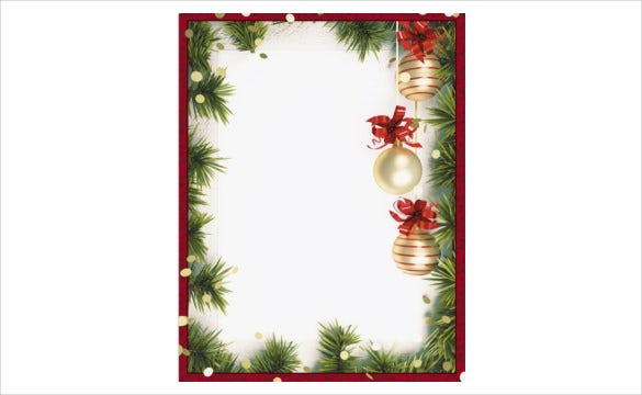 19 holiday border templates free psd vector eps png for Free christmas border templates