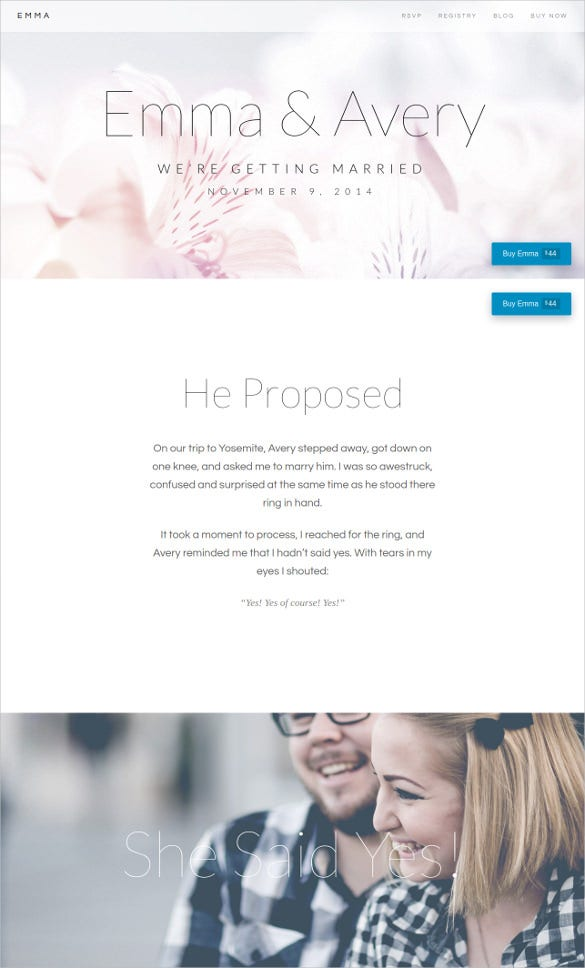 elegant responsive wedding wordpress theme