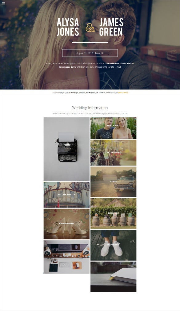 responsive wedding modern wordpress theme