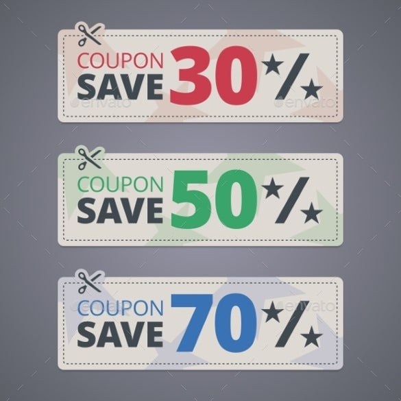 colorful coupon design template download
