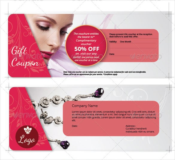 beauty industry coupon design template