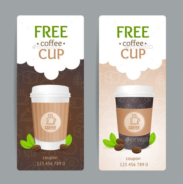 coffe coupon design template download