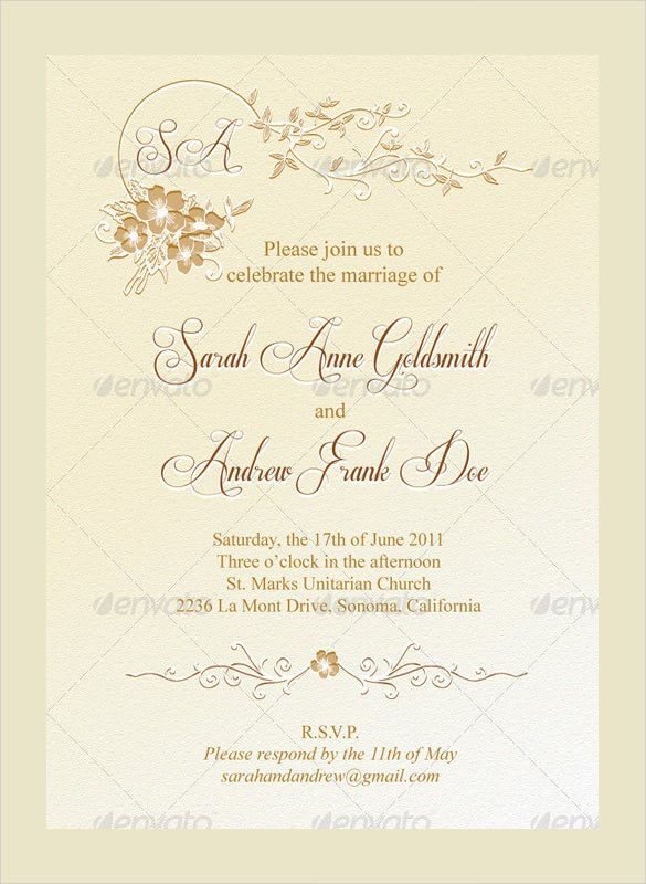 Clic Wedding Menu Format Template