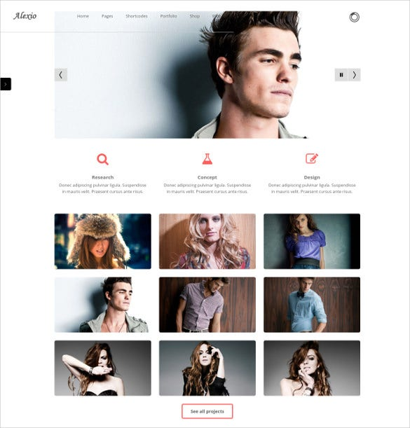alexio clean minimalist wordpress theme