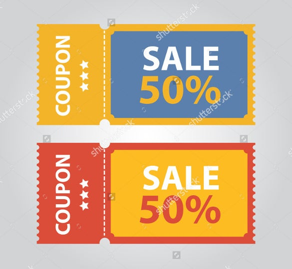 elegant coupon design template download