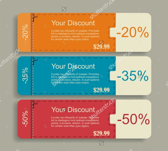 easy to edit discount coupon design template download