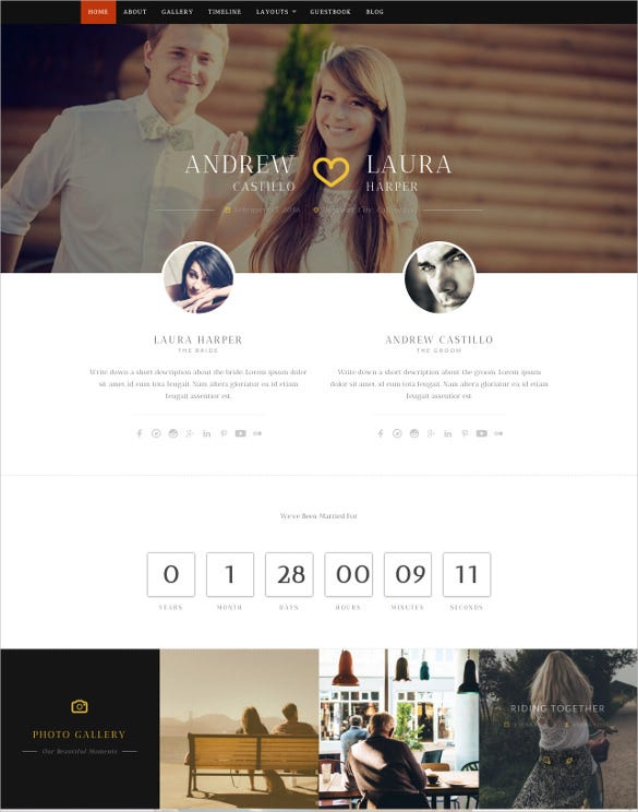 responsive wedding wordpress theme1