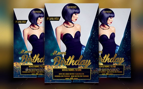 event birthday flyer template