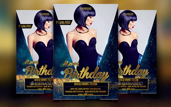 Birthday Flyer Template 31 Free PSD AI Vector EPS Format – Birthday Flyer Templates Free
