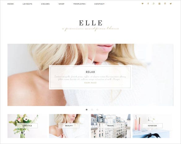 elle wordpress theme