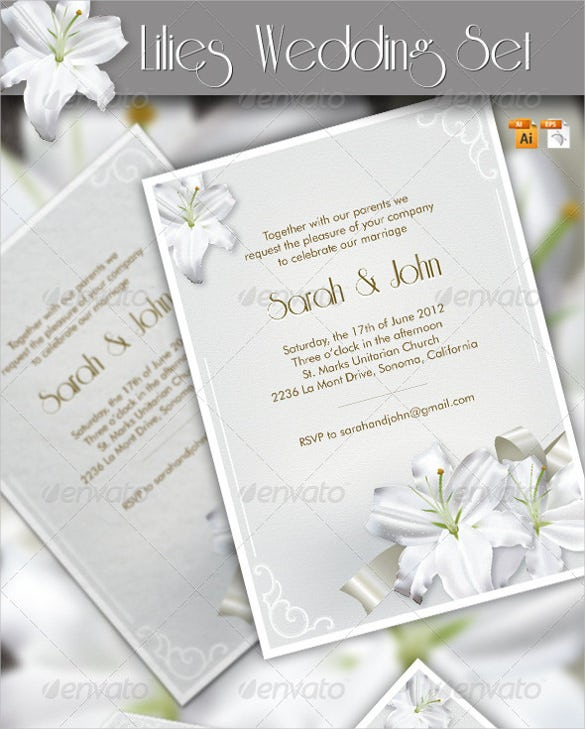 sample vintage wedding menu template