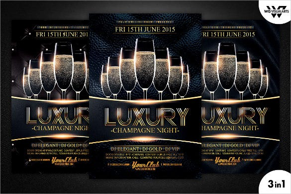 luxury birthday flyer template