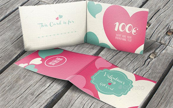 valentines day copon design template download