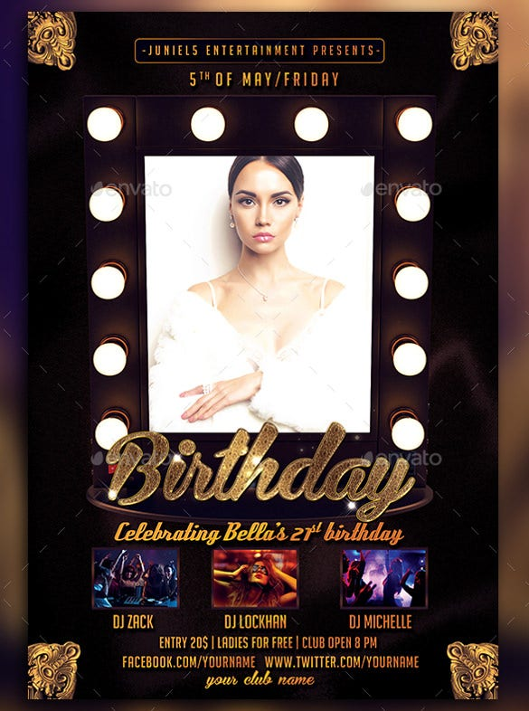 Ladies Birthday Flyer Template