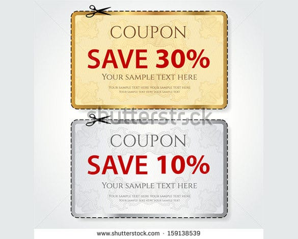 simple coupon deisgn template download