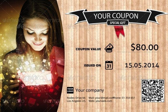 attractive coupon design template download1