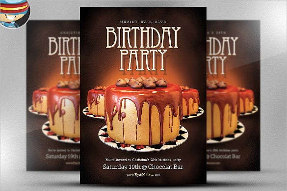 surprise birthday flyer template